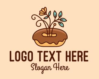 Bakery - Organic Donut Dessert logo design