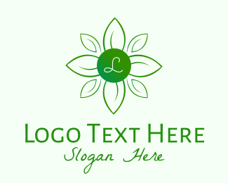 Nature Conservation - Green Natural Wellness Lettermark logo design