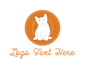 Kitten - White Kitten logo design