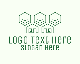 Builder - Green Home Builder logo design