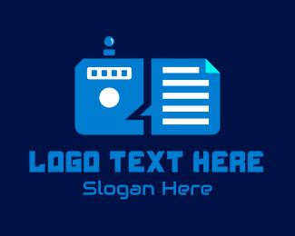 File - Futuristic File Manager logo design