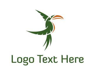 Savanna - Green Tropical Toucan logo design