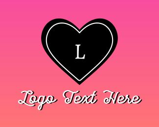 Lingerie - Cute Heart Lettermark logo design