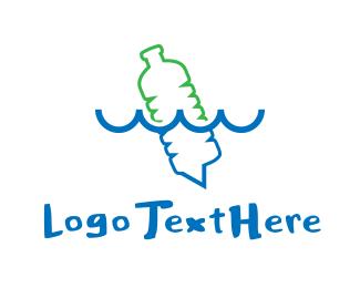 Waste - Plastic Bottle logo design