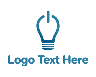 Think Tank - Idea On Light Bulb logo design