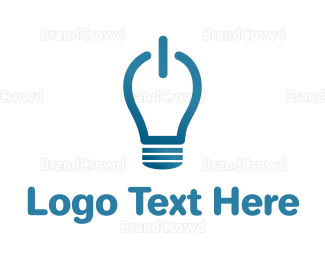 Led - Idea On Light Bulb logo design
