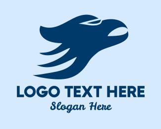 Vulture - Blue Hawk logo design