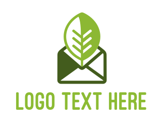 Envelope - Eco Message logo design