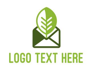 Mail - Eco Mail Message logo design