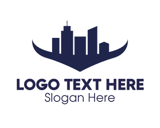 Skyline - City Horns logo design