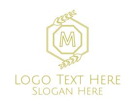 Brand - Luxurious Laurel Lettermark logo design