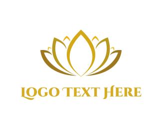 Yellow - Golden Lotus logo design