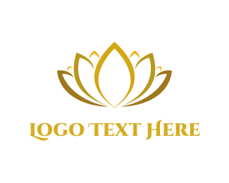 Women - Golden Lotus logo design