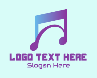 Music Streaming - Modern Musical Note  logo design