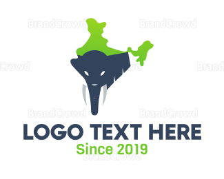 India - India Elephant logo design
