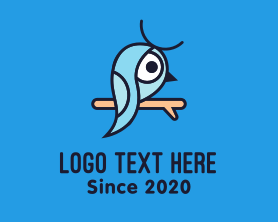 Little - Little Blue Bird logo design