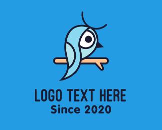 Blue Bird - Little Blue Bird logo design