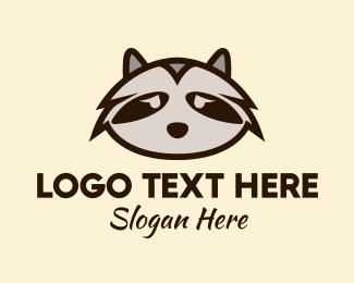 Racoon - Sad Racoon logo design