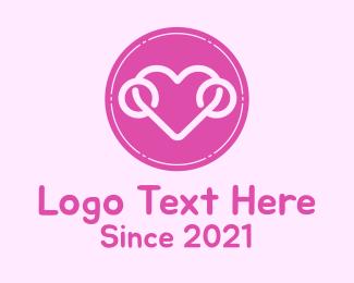 Dating Advice - Lovely Heart Badge logo design