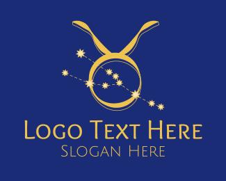 Constellation - Taurus Zodiac Constellation logo design