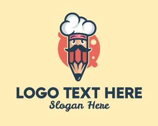 School - Culinary School Pencil logo design