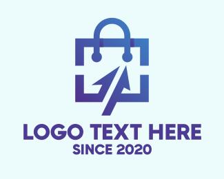 Ad - Digital Shopping Bag logo design