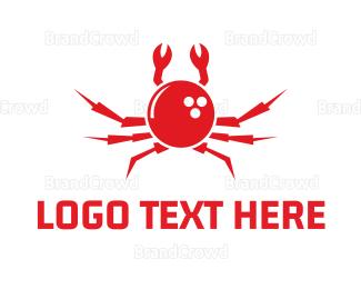 Crustacean - Bowling Crab logo design