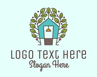 Cottage - Ecosystem Tree House logo design