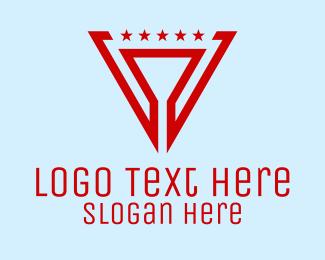 Inverted - Military Star Triangle logo design