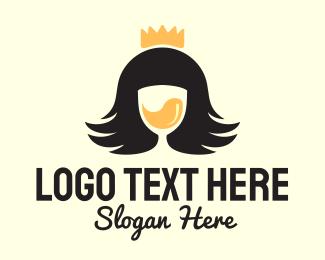 Queen - Queen Wine Drink logo design
