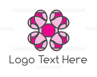 Flower Shop - Pink Flower  logo design