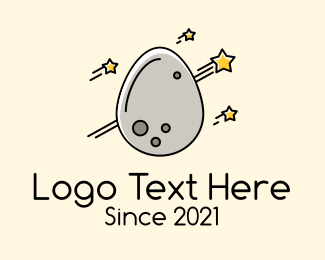 Starry - Asteroid Egg logo design