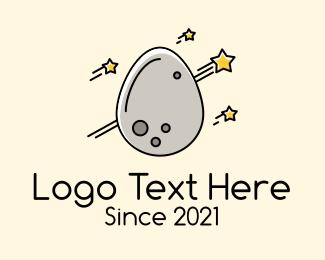 Scientist - Asteroid Egg logo design