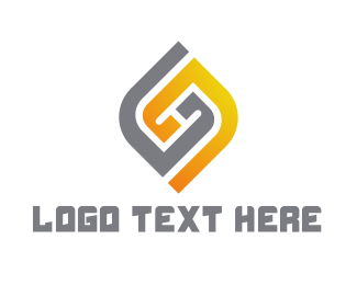 Double - Modern Double G logo design