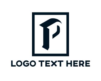 Silhouette - Black Silhouette P logo design