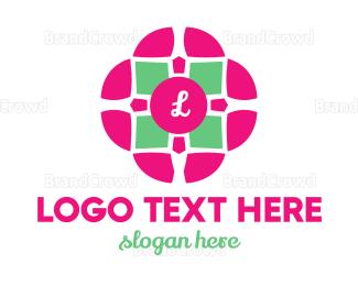 Cosmetics - Flower Tile logo design