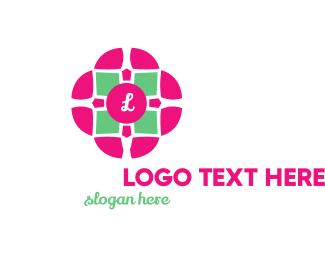 Therapeutic - Flower Tile logo design