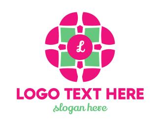 Retreat - Flower Tile logo design