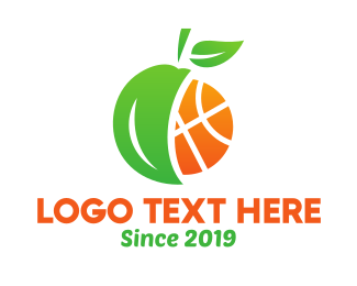 Basketball Fruit Logo