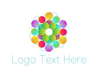 Kaleidoscope - Colorful Circles logo design
