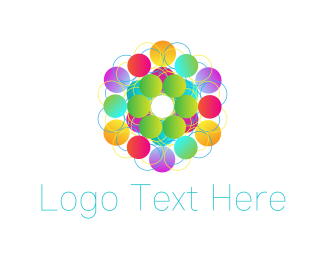 Psychedelic - Colorful Circles logo design