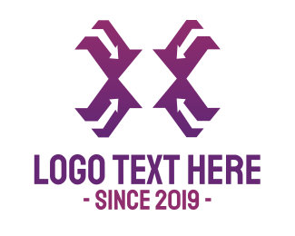 Foreign Trade - Modern Violet X  logo design
