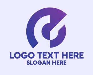 Business Solutions - Abstract Round Purple Letter C logo design