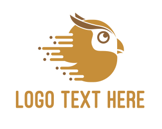 Brown Bird - Fast Owl logo design