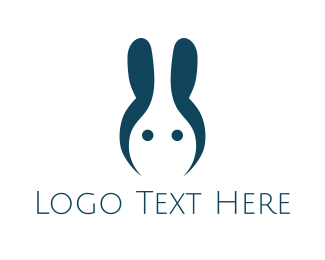 Coding - Blue Abstract Rabbit logo design