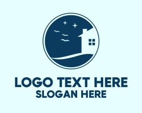 Night - Night Sky House logo design