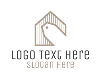 Auction - Home Sale Price Tag logo design