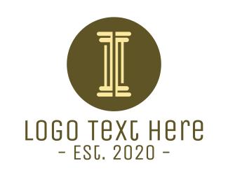 Attorney - Modern Minimalist Pillar  logo design