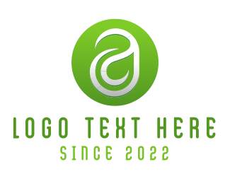 Leaf Letter A Logo
