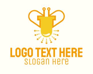 Firefly - Led Bug Bee logo design